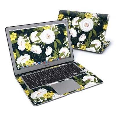 MacBook Air 13in Skin - Fleurette Night