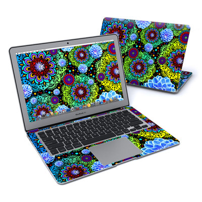 MacBook Air 13in Skin - Funky Floratopia