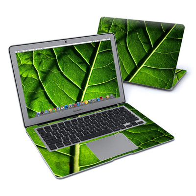 MacBook Air 13in Skin - Green Leaf
