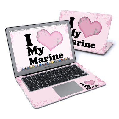 MacBook Air 13in Skin - I Love My Marine