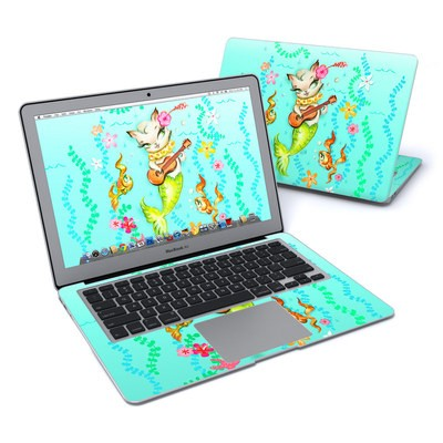 MacBook Air 13in Skin - Merkitten with Ukelele