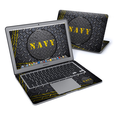 MacBook Air 13in Skin - Navy Diamond Plate