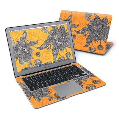 MacBook Air 13in Skin - Orange Flowers