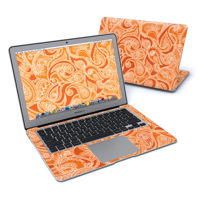 MacBook Air 13in Skin - Paisley In Orange