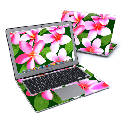 MacBook Air 13in Skin - Pink Plumerias