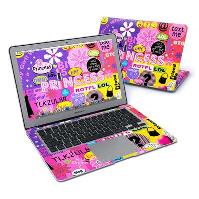 MacBook Air 13in Skin - Princess Text Me