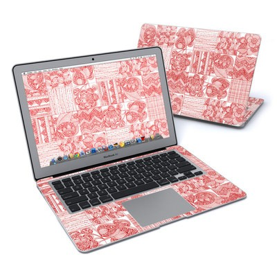 MacBook Air 13in Skin - Red Quilt
