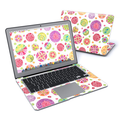 MacBook Air 13in Skin - Round Flowers