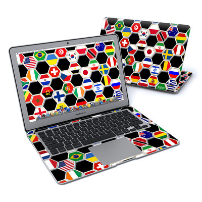 MacBook Air 13in Skin - Soccer Flags