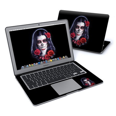 MacBook Air 13in Skin - Sugar Skull Rose