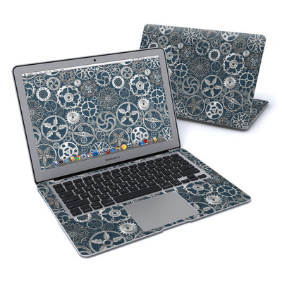 MacBook Air 13in Skin - Silver Gears