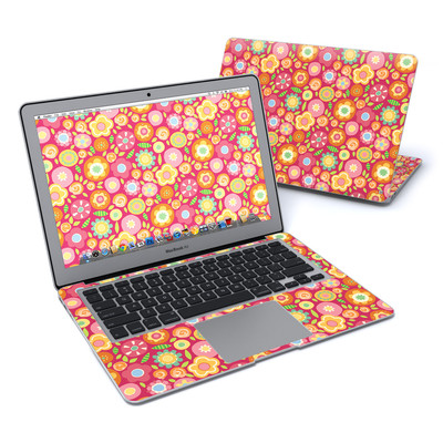 MacBook Air 13in Skin - Flowers Squished