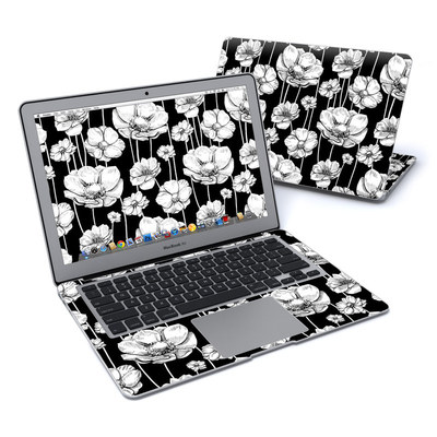 MacBook Air 13in Skin - Striped Blooms