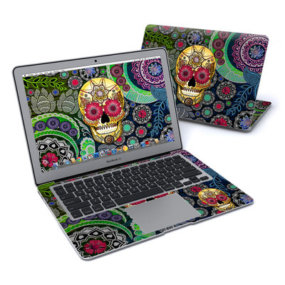 MacBook Air 13in Skin - Sugar Skull Paisley