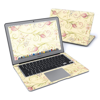 MacBook Air 13in Skin - Tulip Scroll