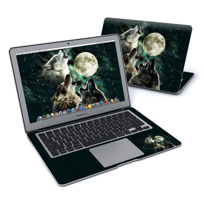 MacBook Air 13in Skin - Three Wolf Moon