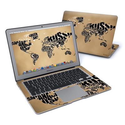 MacBook Air 13in Skin - Type Map