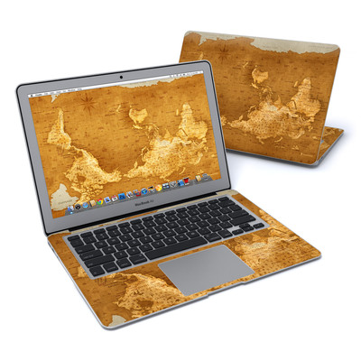 MacBook Air 13in Skin - Upside Down Map
