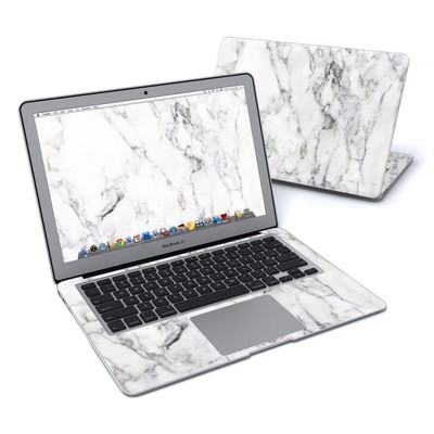 MacBook Air 13in Skin - White Marble