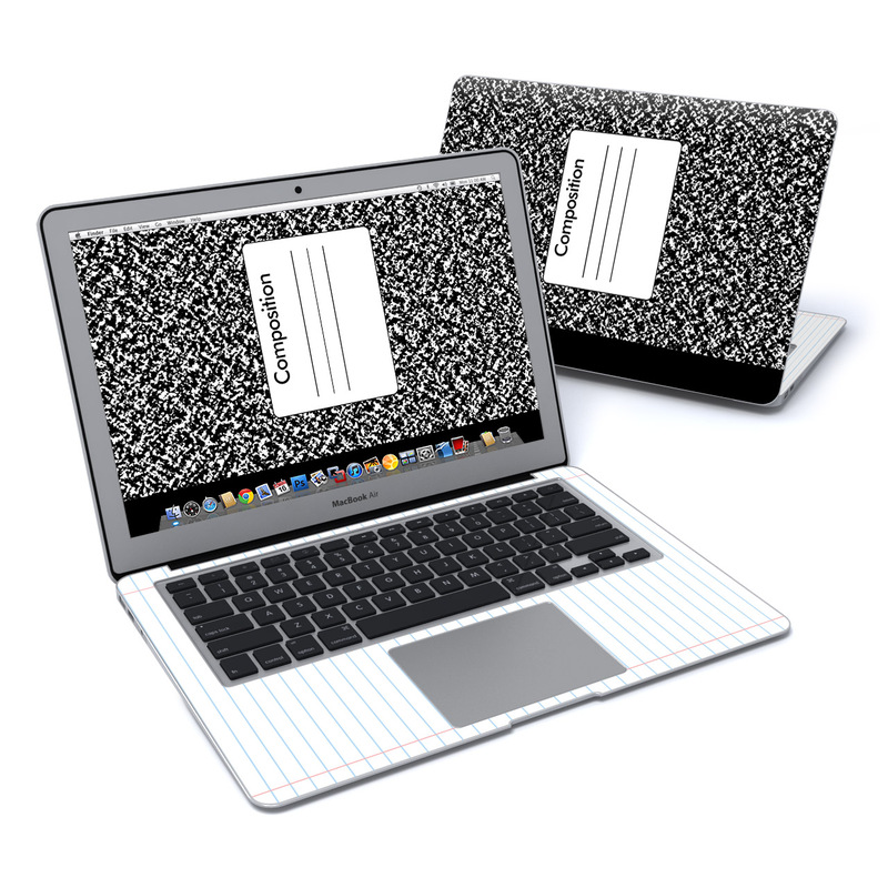 Macbook Air 13in Skin Composition Notebook By Retro