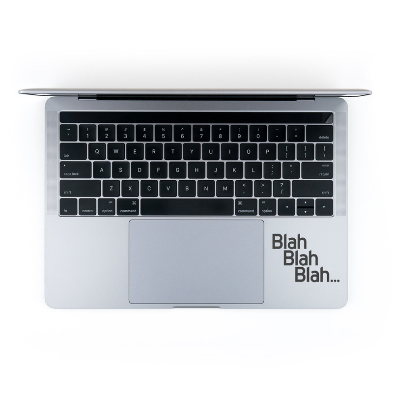 MacBook Decal - Blah Blah