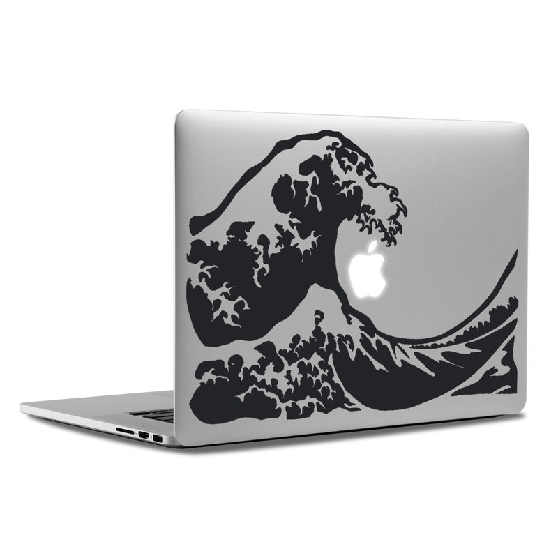 Macbook decal great wave