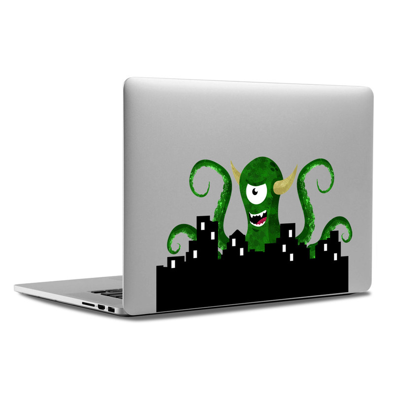 MacBook Decal - Monster Attack