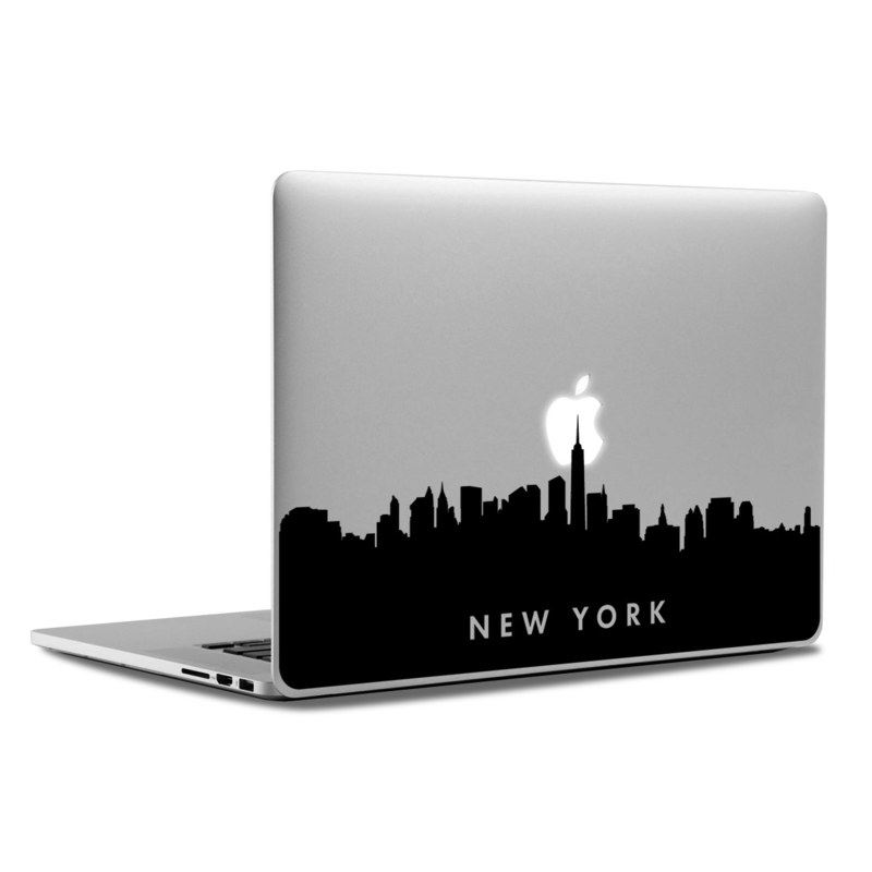 Macbook decal new york city skyline