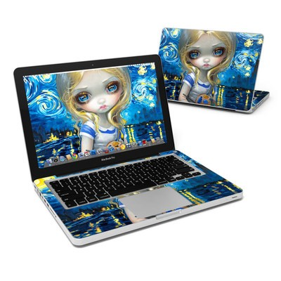 MacBook Pro 13in Skin - Alice in a Van Gogh