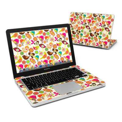 MacBook Pro 13in Skin - Bird Flowers