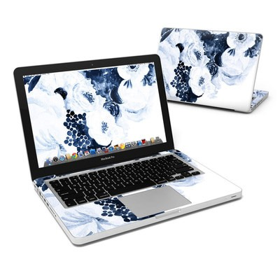 MacBook Pro 13in Skin - Blue Blooms