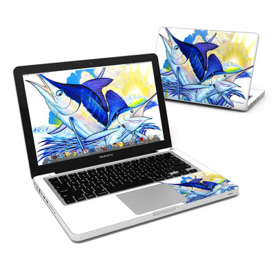 MacBook Pro 13in Skin - Blue White and Yellow