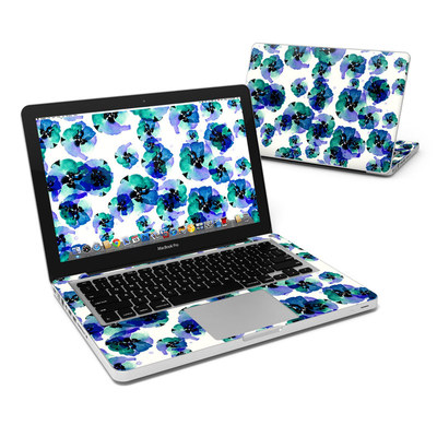 MacBook Pro 13in Skin - Blue Eye Flowers