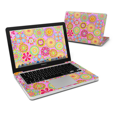 MacBook Pro 13in Skin - Bright Flowers