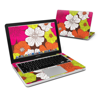 MacBook Pro 13in Skin - Brown Flowers