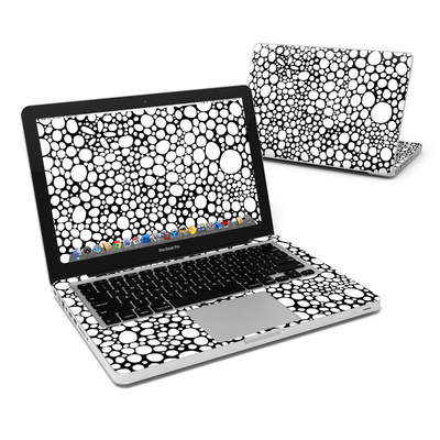 MacBook Pro 13in Skin - BW Bubbles