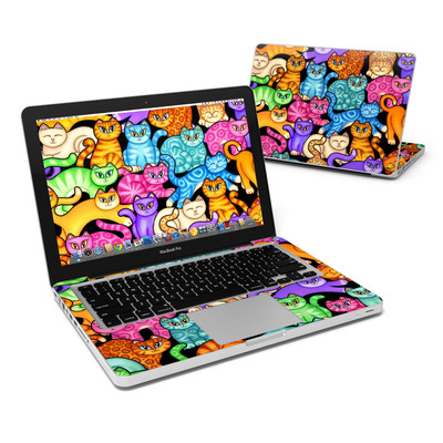 MacBook Pro 13in Skin - Colorful Kittens