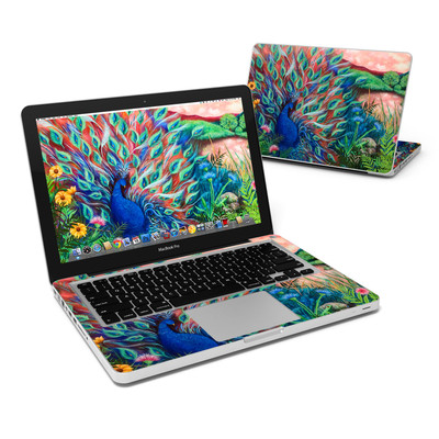 MacBook Pro 13in Skin - Coral Peacock