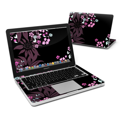 MacBook Pro 13in Skin - Dark Flowers