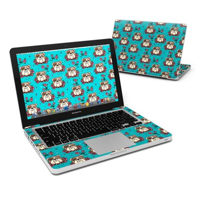 MacBook Pro 13in Skin - Bulldogs and Roses