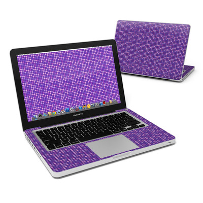 MacBook Pro 13in Skin - Dots Purple