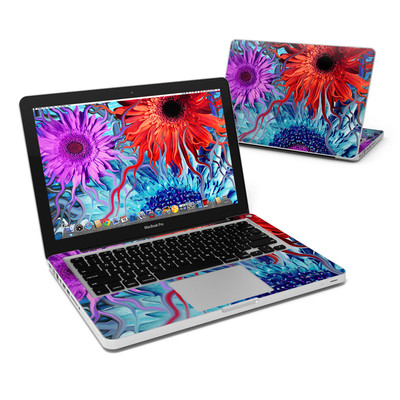 MacBook Pro 13in Skin - Deep Water Daisy Dance