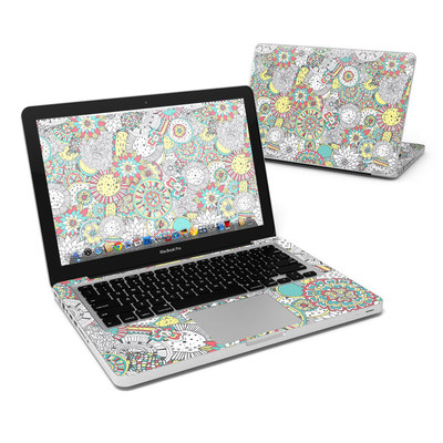 MacBook Pro 13in Skin - Faded Floral