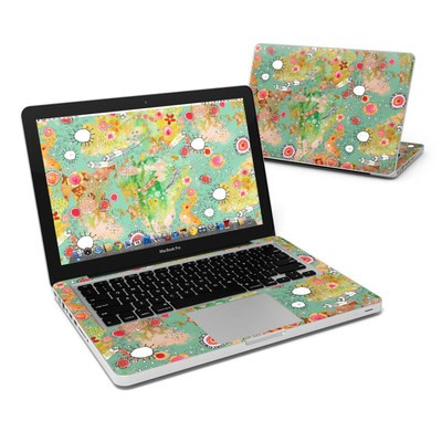 MacBook Pro 13in Skin - Feathers Flowers Showers