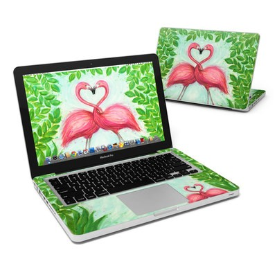 MacBook Pro 13in Skin - Flamingo Love
