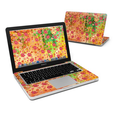 MacBook Pro 13in Skin - Garden Flowers