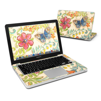 MacBook Pro 13in Skin - Garden Scroll