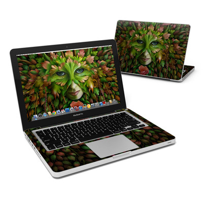 MacBook Pro 13in Skin - Green Woman