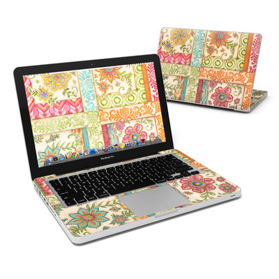 MacBook Pro 13in Skin - Ikat Floral