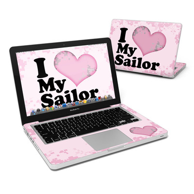 MacBook Pro 13in Skin - I Love My Sailor